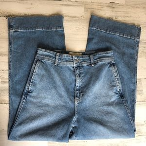 FREE PEOPLE high waisted flare leg jeans (size4)